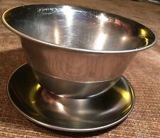 """Lundtofte Gravy Boat Sauce Bowl 18-8 Stainless Denmark Mid Century Modern 5-7/8"""""""