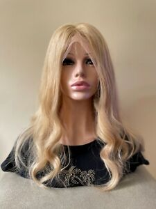 100% Remy Human Hair Long Full Lace Wig in Mid   Blonde 150% Density  NEW
