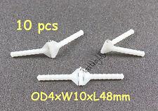 15 Pcs Super Light Nylon Pivot & Round Hinges D3xW10xL48mm RC Plane (US SELLER)