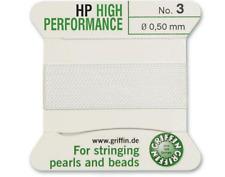 HP HIGH PERFORMANCE BIANCO SETA prendendo gioco FILO 0,50 mm Griffin Taglia 3-ft799