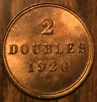 1920 GUERNSEY 2 DOUBLES - Very choice! Amazing!