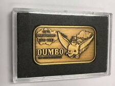 Greathouse Productions Disney Dumbo 50th 1 oz. Bronze Art Bar LE S/N 008