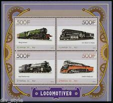 Steam Locomotives minisheet of 4 stamps mnh Southern Pacific 4449 Rep. of Congo