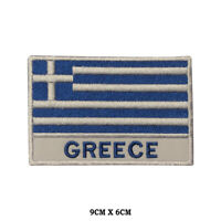 GREECE National Flag Embroidered Patch Iron on Sew On Badge For Clothes etc