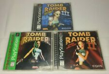 Tomb Raider 1 2 3 / Playstation 1 Ps1 / All Complete In Box + Tested