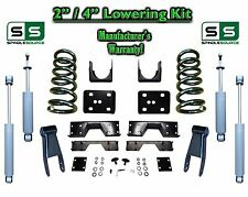 "02 - 08 Dodge Ram 1500 V8 2"" / 4"" Lowering Drop Kit 2WD Coils Flip SHOCKS, NOTCH"