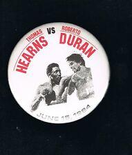 1984 WORLD Championship Thomas Hearns vs Roberto Duran boxing pinback button