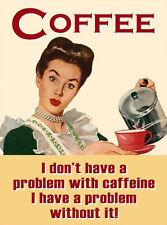 caffè PROBLEM con caffiene anni '50 ANNI '60 Rétro da cucina bevande novità