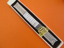 """NEW Kestenmade 10K Rolled Gold Plated Mens 5 7/8"""" Stretch Watch Band..17.3mmEnds"""