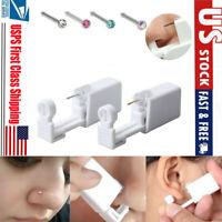 Disposable Self Ear Piercing Gun Safety Cleaning Ear Nose Piercing Gun Kit Tool
