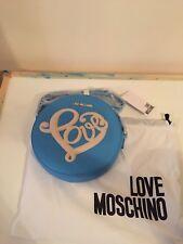 BNWT LOVE MOSCHINO BLUE BORSA CROSS BODY LOGO BAG WITH DUST BAG