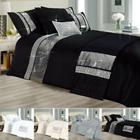Diamnate Duvet Cover Starlight Bedding Set Double King Sparkle Luxury Quilts UK