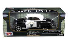 1950 Chevy Bel Air CHP California Highway Patrol Police Car 1 18 Motor Max 79007