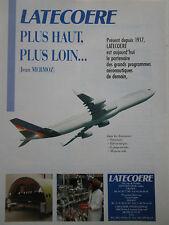 91-92 PUB LATECOERE TOULOUSE MERMOZ AERONAUTIQUE AVION AIRBUS ORIGINAL FRENCH AD