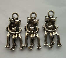 15 PCS Beautiful personage Tibetan silver pendant 24x11mm