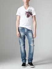 Just Cavalli Five pocket cotton straight leg jeans, $425, size 29