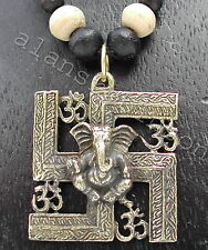 Ganesh swastika om necklace good luck symbol Hindu Buddhist Jainist Hakenkreuz