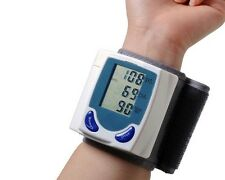 Digital LCD Fully Auto Wrist Blood Pressure Monitor and Heart Beat Pulse Meter