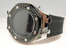 Mens New  Techno Com Kc/ Jojo Joe Rodeo Big Black Digital Diamond Watch 1.8 Ct