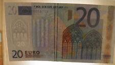 20 EURO MIT ZWEI SICHERHEITSSTREIFEN !!! WELTWEIT EINZELSTÜCK!! Fehldruck