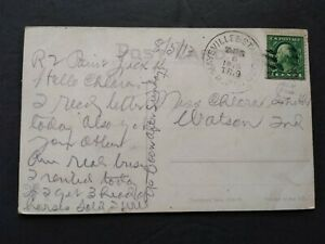 RPO: Maysville & Stamford 1913 Cincinnati Pennant Postcard, Kentucky Railroad