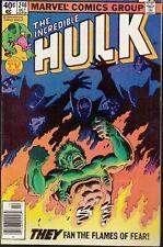 INCREDIBLE HULK #240 1979 -EL DORADO/FLAMES OF FEAR- STERN/ BUSCEMA...VF