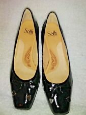 Sofft Women's 8.5 Black Bow Accent Cushioned Kitten Heels #1026111-NWOB