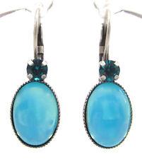 SoHo® Ohrringe Ohrhänger geschliffene Kristalle blue circon Glas blue moonshine