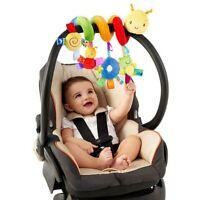 Baby Pram Hanging Rattles Crib Cot Spiral Stroller Car Seat Toy + Ringing Bell