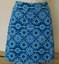 Fitness Skort - XL - Golf Yoga Tennis Sports Skirt Shorts Blue Geometric Print