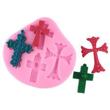 3D Mini Cross And Jesus Fondant Mold Silicone Fondant Cake Decoration Mould New