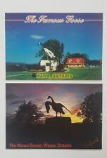Postcard Wawa Goose Ontario Canada Lot of 2