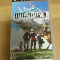SONY  PSP Japanese English Subtitles Version Final Fantasy III FF3 From Japan