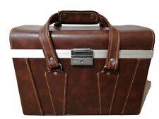 AUTHENTIC VINTAGE COMPARTMENT CASE CAMERA GADGET BAG CASE leather and vinyl