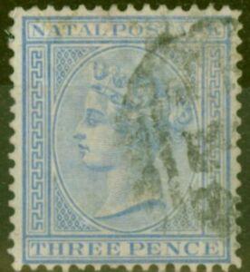 Natal 1874 3d Blue SG68 Fine Used