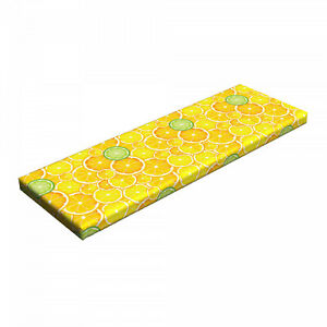 """Ambesonne Fruits Bench Pad HR Foam with Fabric Cover 45"""" x 15"""" x 2"""""""