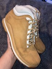 Timberland Mens Shoes Genuine Leather Wheat Euro Dub Hiking Boot Size 9.5