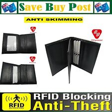 RFID Blocking Anti Skimming Man Mens Womans Wallet Card Holder Faux Leather