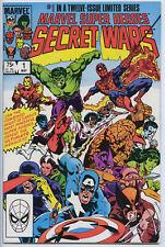 MARVEL SUPER HEROES SECRET WARS #1 - 6.0, WP - Signed by Zeck & Shooter