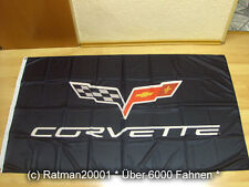 Fahnen Flagge Corvette C6 - 90 x 150 cm