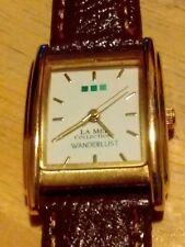 Vintage Wanderlust By La Mer Ladies watch, running w/new battery/leather NR H