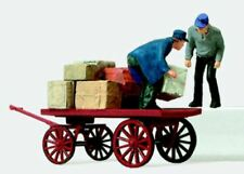 Preiser 28084 - Pré Peint Travailleurs Chargement Cart H0/00 1:87 Échelle