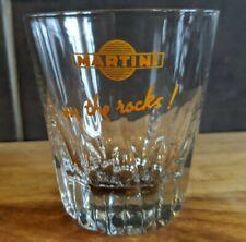 Martini on the Rocks Tumbler, Orange, Real Nice Shape, Bar, Man Cave, Vintage