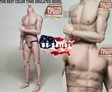 "1/6 Male Muscular Body JXtoys S01 NARROW SHOULDER 12"" Figure Bruce Lee ❶USA❶"
