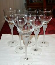 Water Goblets Sea Mist Clear Frost Stem by MIKASA - multiple available - mint