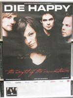 Die Happy 60cm X 85cm (approximately) 2003  Tour Poster