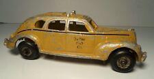 "Arcade Yellow Cab Studebaker Taxi Cast Aluminum 7 1/2"""