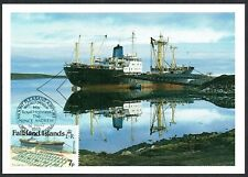 Falkland Islands 1985 Postcard Commemorative Stamp and Cancel Airport Opening