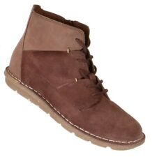 Clarks Collection Womens Tamitha Key Boots Size 6M Mahogany Suede/Leather Shoes