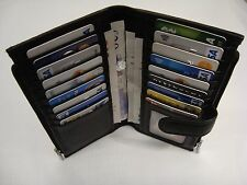 Leather Purse Wallet Organizer Slim with Many features Black Top Brand
